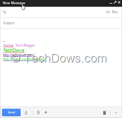 Gmail New Compose window
