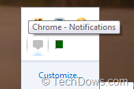 Chrome Notifications tray icon