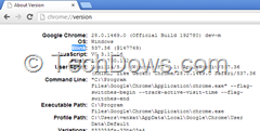 Chrome version page showing blink as rendering engine instead of WebKit