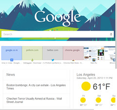 Google Chrome New Tab Page Google Now