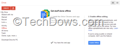 Google Drive Offline setup instructions