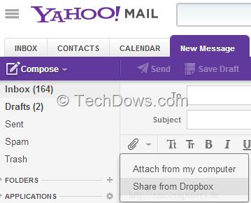 Yahoo Mail gets Dropbox Integration for Sending and Saving