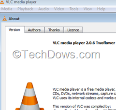 VLC Media Player version 2.0.6
