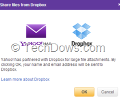 Yahoo Mail adds Dropbox for attachments