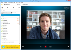recording a video message on Skype in Windows 7