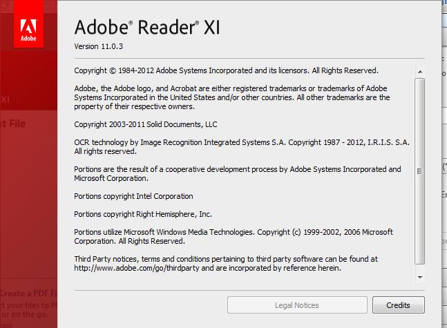 adobe reader xi (11.0.03)