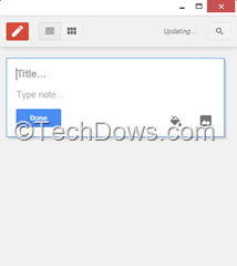 Google Keep Chrome App Window