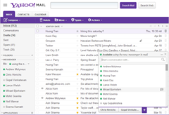 Yahoo Messenger in Mail is customizable