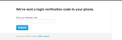 enter verification code