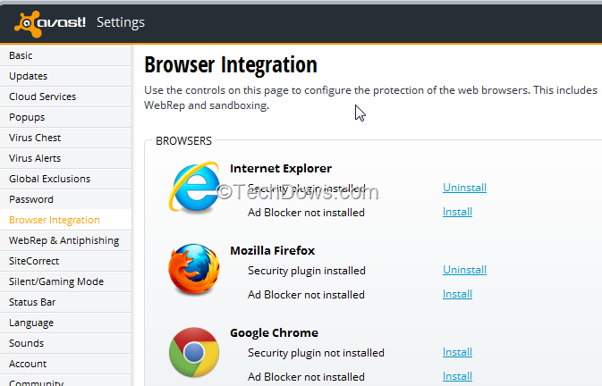 avast browser plugin