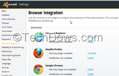 uninstall Avast Online Security Plugin