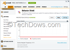 Avast Behavior Shield Settings