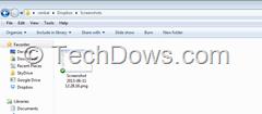 Dropbox Screenshots folder windows