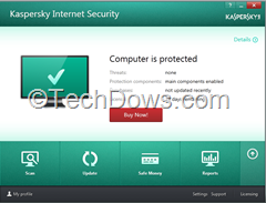 Kaspersky Internet Security 2014 screenshot