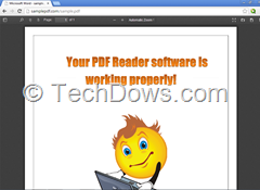 Mozilla PDF.Js PDF Viewer in action in Google Chrome