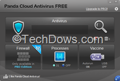 Panda Cloud Antivirus  Free edition 2.2 UI