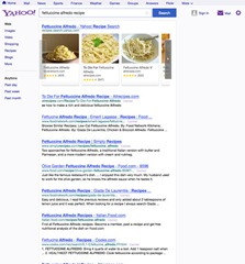 Yahoo web search new design
