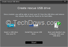 create Rescue USB drive