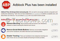 Adblock Plus Redesigned First Run page