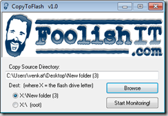 CopyToFlash program ui
