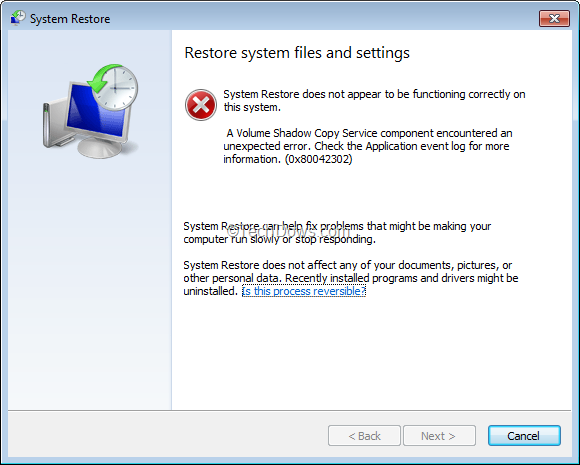 does a windows restore remove applications