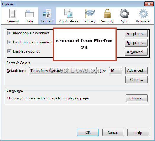 How to Disable JavaScript In Firefox 23? [Tip]