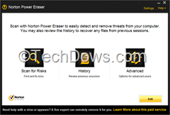 Norton Power Eraser 3 UI