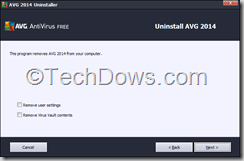 AVG Antivirus Free 2014 uninstall step 3
