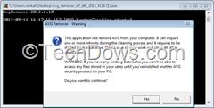 AVG Remover 2014 step 1