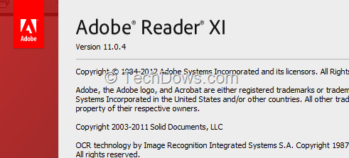 Adobe reader xi 11 0 04 security update available techdows