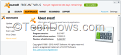 Avast Free Antivirus 8.0.1497 comptabile with Win 8.1