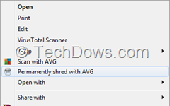 "Permanently shred with AVG context menu thumb AVG 2014: How to Remove ""Permanently Shred with AVG"" Option from Context Menu"