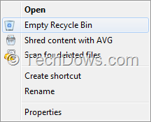 "Shred Content with AVG Recycle Bin Context menu thumb AVG 2014: How to Remove ""Permanently Shred with AVG"" Option from Context Menu"