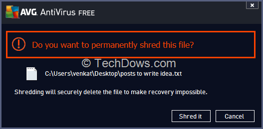 "AVG 2014: How to Remove ""Permanently Shred with AVG"" Option from"
