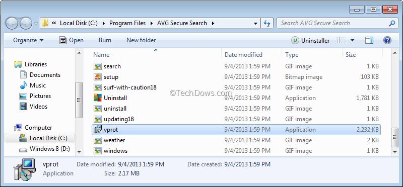 verwijderen secure search
