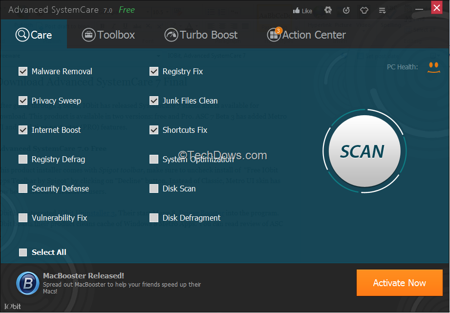 Advanced systemcare 11. 5. 0. 240 pro serial key 2019 (100% working.