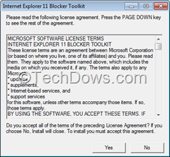 Internet Explorer 11 Blocker Toolkit