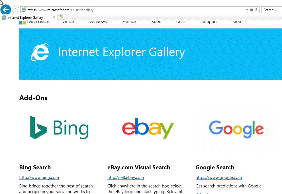 Set Google As Default Search Engine In Internet Explorer 11 On Windows 10