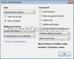 Classic Theme Restorer for Firefox Australis