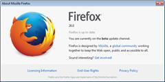 Firefox 26 beta