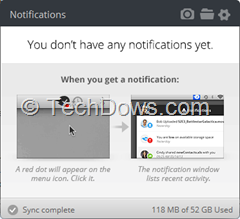 MediaFire Desktop notifications