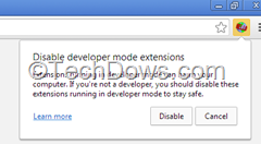 Chrome disable developer mode extensions warning