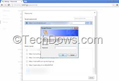 Google Chrome type your Windows password dialog