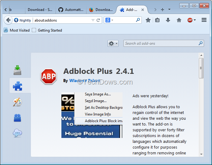 Adblock Plus Update for Firefox adds Australis Theme Support