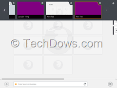 Firefox Private tabs Windows 8 with purple color