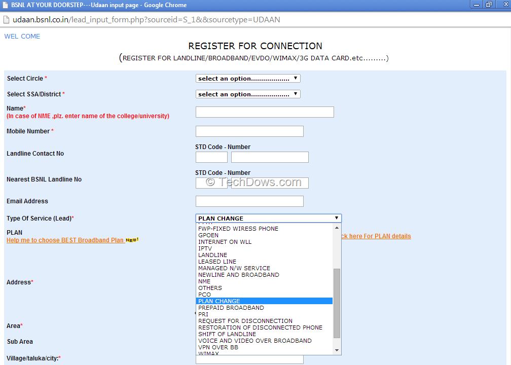 How to Change Your BSNL Broadband Plan Online?