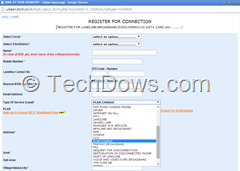 BSNL Plan change form online
