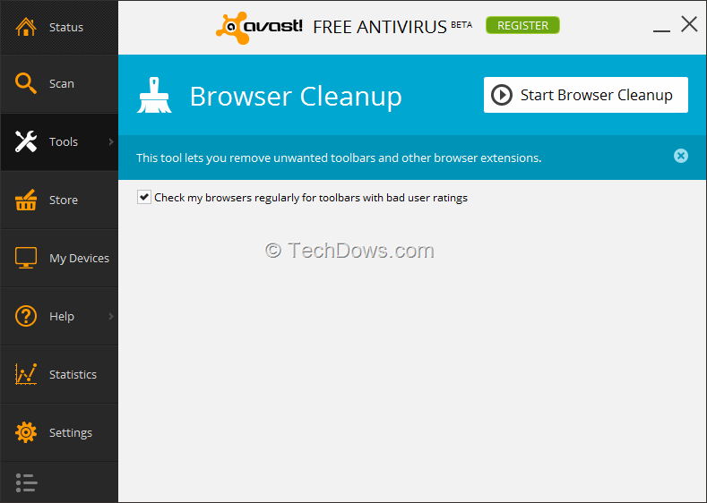 how to turn off avast pop ups