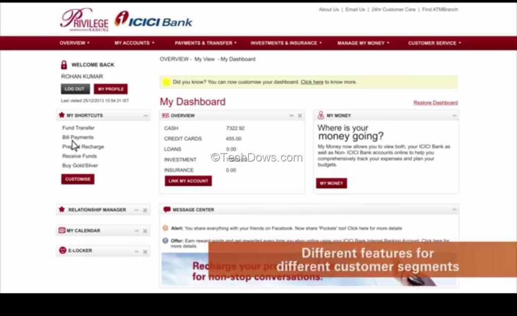 Icici netbanking online