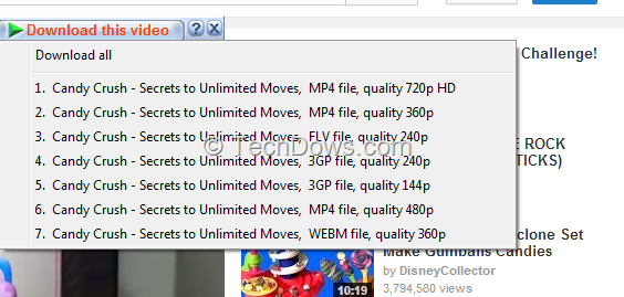 idm not showing download video option